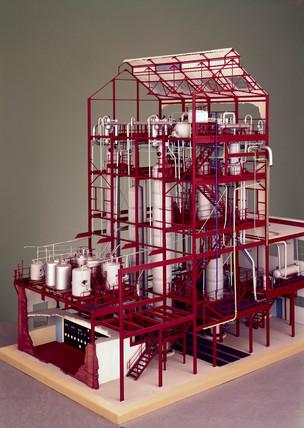 Continuous tar acid distillation plant, c 1956.