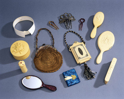 Objects made from celluloid, 1920s-1930s.