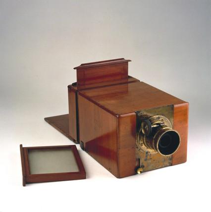 Calotype camera, c 1850.