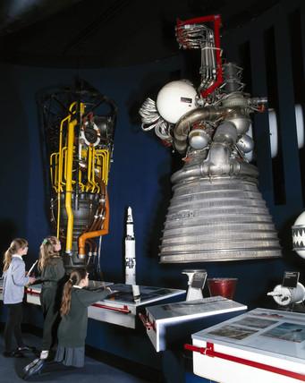 Rocketdyne J-2 rocket motor, 1960s.