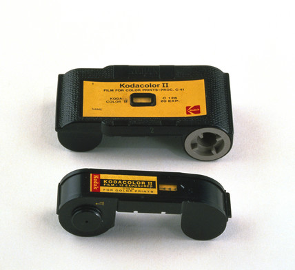 Slot-in film cartridges, 1960s and 1970s.