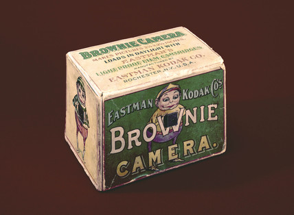 Carton for Kodak No 1 Brownie camera, c 1902.