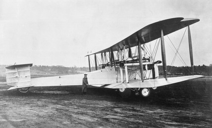 Vickers Vimy at Brooklands, 1919 (Science Museum / Science & Society)