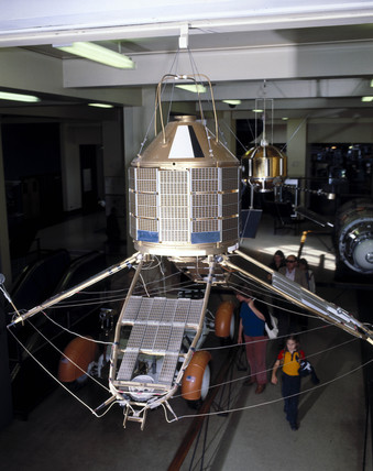 Satellite in Space Gallery, Science Museum, London, 1990s.