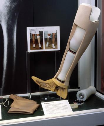 Orthopaedic display, Science Museum, London, 1985.