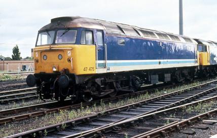Clas 47 diesel locomotive at York Station.