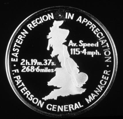 BR bronze medallion, September 1985. The