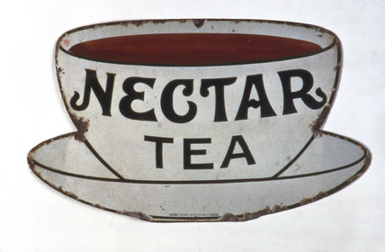 Sign advertising 'Nectar Tea', c 1920.
