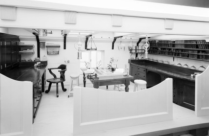 Zoology laboratory in HMS Challenger, 1872-