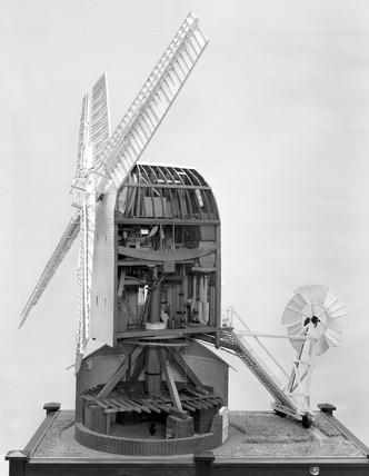 Working model of Sprowston post-windmill, 1780 to 1934.