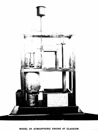 Model of Newcomen's engine, 1763.