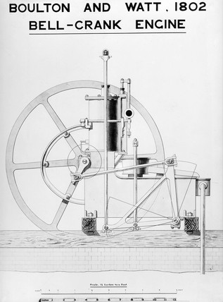 Boulton and Watt's bell crank engine, 1802.