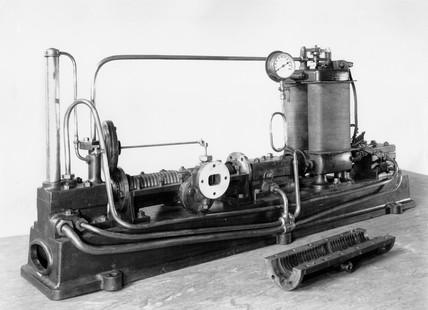 Parson's original Steam Turbine generator, 1884.