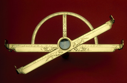 Graphometer-clinometer, c 1600.