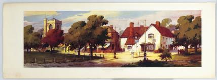 Harpenden, BR print, c 1950s. British Railw