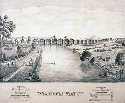 Wharfedale Viaduct, Arthington, West Yorkshire, 1846.