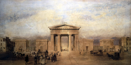 Entrance to Euston Station, London, c 1840s.