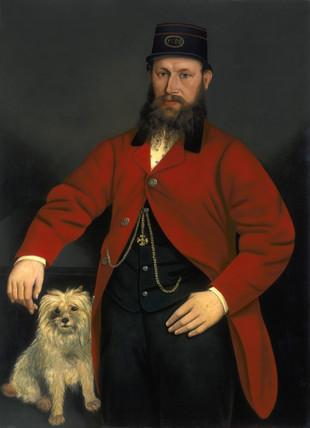 Richard Monty, English railway guard, c 1880.