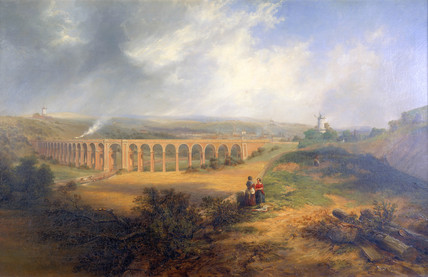 'The London Road Viaduct', Brighton, 1848.