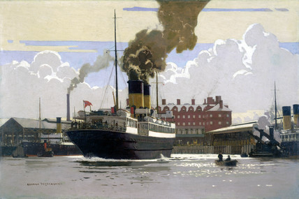 s 'Hibernia' in Holyhead Harbour, c 1930s.
