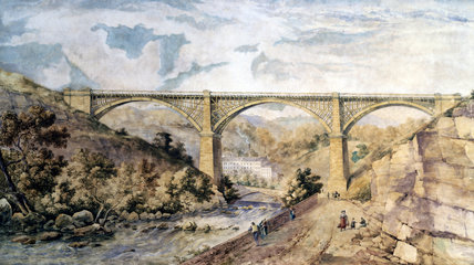 Etherow Viaduct at Broadbottom, Greater Manchester, 1846.