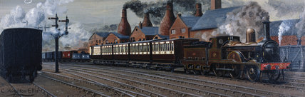 The Manchester Expres near Stoke-on-Trent, 1885.