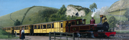 Narrow gauge train, Leek & Manifold Valley Railway, Staffordshire, 1905.