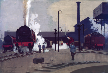 'Ready for the Road', original artwork for LMS poster, c 1930.