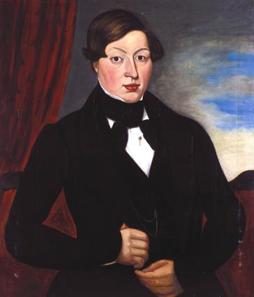 George Stephenson, English railway engineer, as a young man, c 1800.