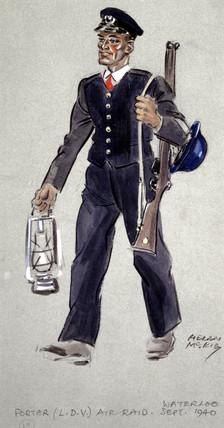 Air Raid Porter, Local Defence Volunteer,