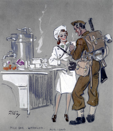 Milk Bar, Waterloo, London, August 1940.
