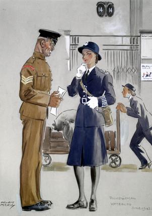 Policewoman, Waterloo Station, June 1942. O