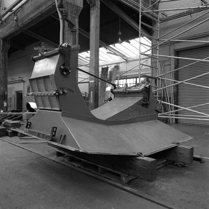 New ash pan for the Duchess of Hamilton restoration. England, 1989.
