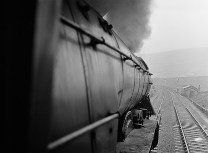 Locomotive No.60081. View from footplate on the Settle and Carlisle c.1960. Shotover, England, c.1960.