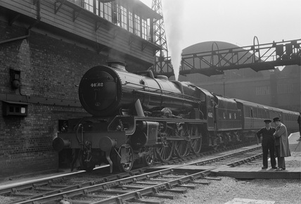 London Midland Scotland Railway (LMS) 6P 4-6-0 no. 46162.