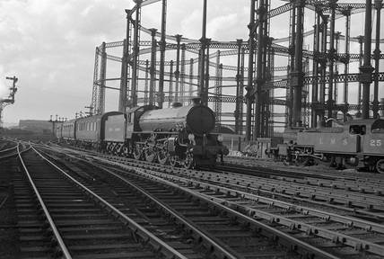 London North Eastern Railway (LNER) class B1 no. 61251 'Oliver Bury' at St. Pancras. England, 18th June 1948. 18 June 1948 (CCB Herbert, M_4850).
