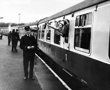 British Rail special football train, Lancashire, January 1973.