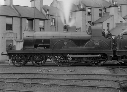 South Eastern Railway  (SER) 4-4-0 locomotive no. 148 class F. Built at Ashford 1889 (G.F. Burtt, FB_223).