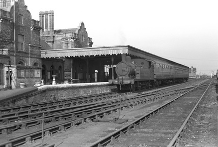 Maldon East Station, Apri 1949.