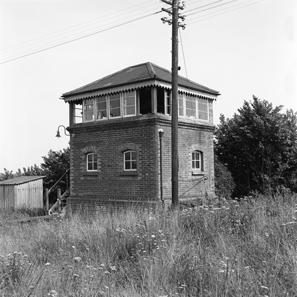 Brading signal box, Isle of Wight, August 1964. (Real K series, K_6735).