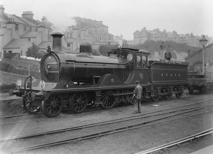 South Eastern and Chatham Railway (SECR) 4-4-0. Locomotive no. 680 class G. AJC_161.