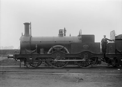 South Eastern Railway  (SER) 2-4-0 locomotive no. 37. Built at Ashford 1861 (G.F. Burtt, FB_1302).