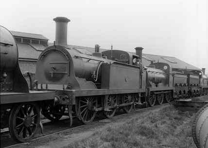 South Eastern Railway  (SER) 0-6-0T locomotive no.125 class R. Built at Ashford September 1895 and withdrawn March 1937 (G.F. Burtt, FB_222).