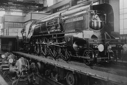 London and North Eastern Railway (LNER) Class P2 2-8-2 no. 2001 on test at Vitry (Paris), late 1934. (NRM, NRM_354/81).