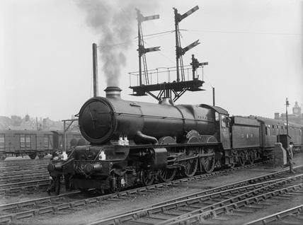 ex-Great Western Railway (GWR) 4-6-0 locomotive 6018 'King Henry VI' during Locomotive Exchanges. (H. L. Overend, HLO_74)