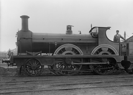 South Eastern Railway (SER) 2-4-0 locomotive no. 261. Built by Sharp Stewart and Company 1876 (G.F. Burtt, FB_225).