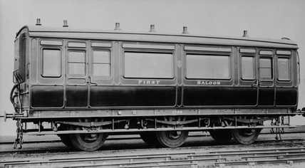 South Eastern Railway (SER) 1st class saloon no.1780. Built in October 1874 (NRM copy neg, NRM_296/82).