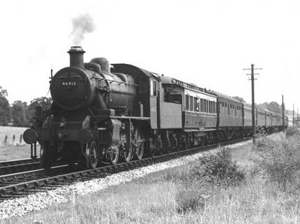 Locomotive no. 46413 2-6-0 Class 2 on test train. (Tippett/Swindon, T1/169)
