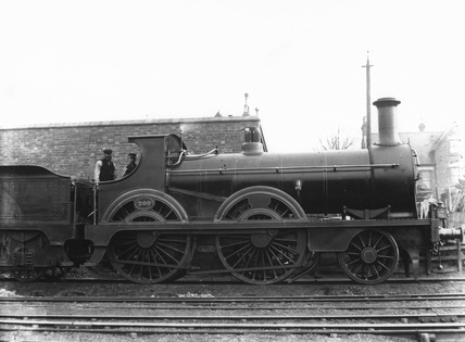 South Eastern Railway (SER) 2-4-0 locomotive no. 260. NRM_84_3035.