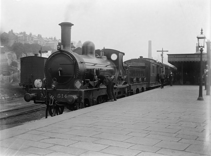South Eastern and Chatham Railway (SECR) 2-4-0 locomotive no. 514 at Hastings station
